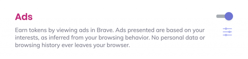 Brave Ads switch