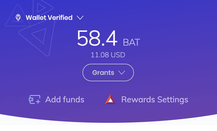 Brave Browser wallet verified
