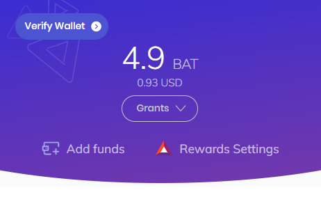 Brave Browser wallet not verified